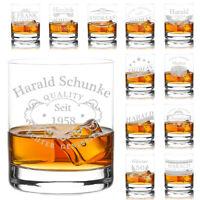 Tumbler Whiskyglas mit Gravur Becher personalisiert Gin, Whisky Glas Geschenk
