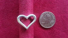 Beautiful Big Heart Solid Heavy Ring 925 Sterling Silver *Size 7 *A960