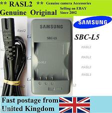 Genuine Original Samsung SBC-L5 Charger Digimax NV3 NV5 NV7 L50 L60 L73 L700 s