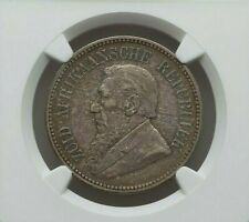 1894 SOUTH AFRICA PAUL KRUGER SILVER 2 1/2 SHILLINGS NGC XF-45 KM7