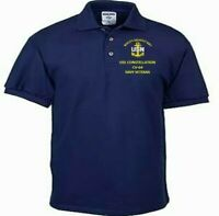 USS CONSTELLATION CV-64 NAVY ANCHOR  EMBROIDERED LIGHT WEIGHT POLO SHIRT