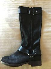 NEW UGG Australia Dree Black Leather Tall Equestrian Boot, Women Size 5, $275