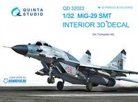 Quinta QD32022 1/32 MiG-29SMT 3D-Printed & coloured interior (for Trumpeter kit)
