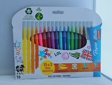 Paper Mate Felt-Tip Colouring Pens Not Inkjoy 15+3 Free Ideal For Adults or Kids