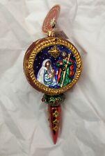 Christopher Radko O Holy Night Nativity Mary Joseph Baby Jesus Ornament Nwt