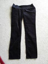 MAMAS & PAPAS maternity pregnancy velour trousers 12L black jeans L32 under bump