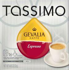 16ct Tassimo Gevalia Espresso Arabica Coffee Kaffe Brew Gift Sold Loose FreeShip