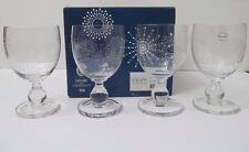 Dansk Shine Goblet Glasses 14oz Snowflake Set Of 4 Excellent