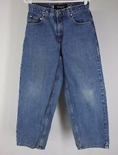 VTG Student 27 x 28 Levi's SilverTab Baggy Blue Jeans Made in USA