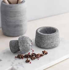 Granite Stone Pestle and Mortar Herb Spice Ice Vintage Large Grinder Crusher UK