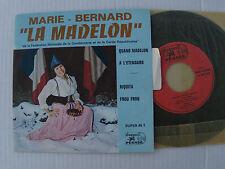 "MARIE-BERNARD BENQUEY: La Madelon - 7"" EP neuf 1969 DISQUES PEGASE 70023 H"