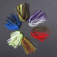 10x Silicone Fishing Skirt Rubber Spinner Bait Bass Jig Lure Fishing Making