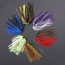 10x Silicone Fishing Skirt Rubber Spinner Bait Bass Jig Lure Fishing Making Tool