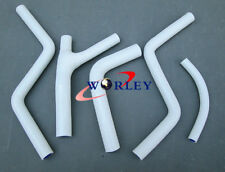 For Honda CR250 CR 250 85-87 1985 1986 1987 Silicone Radiator Hose KIT WHITE