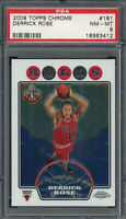 Derrick Rose 2008 Topps Chrome Basketball Rookie Card #181 Graded PSA 8