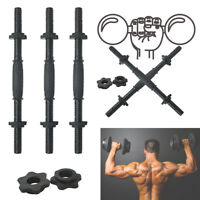 Electroplated Dumbbell Handles Weight Gym Rod 45cm Spiral Button For Training US