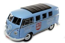 GreenLight 1962 VW Volkswagen Microbus CUSTOM Die Cast 1/18 AUTO HAUS BLUE LED