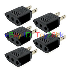(5 PCS) US, Japan, Taiwan 2 Pin Adapter Change EU 2 prong Plug Max 250V 6A