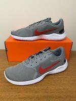 Nike Flex Experience RN 9 Running Shoe Gray Black Red White CD0225-008 Men's NEW