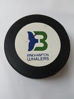VINTAGE BINGHAMTON WHALERS AHL VICEROY CANADA HOCKEY OFFICAL PUCK  OLD SLUG