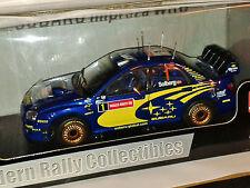 SUNSTAR SUBARU IMPREZA CMR Galles RALLY GB 2004 Petter Solberg 1/18 pressofusione NUOVO CON SCATOLA