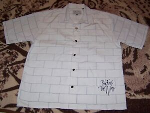 Vintage PINK FLOYD THE WALL LP Brick Art Dragonfly Button Dress Collar Shirt XL