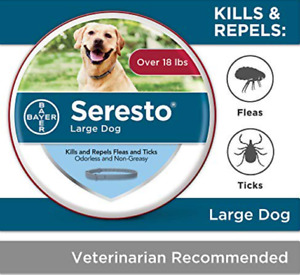 Seresto Flea and Tick Collar for Dogs 8-Month Flea and Tick Collar for Large Dog