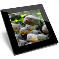 1 x Aquarium Fishes Underwater Art Glass Coaster - Kitchen Student Gift #13277