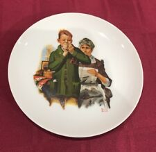 "Norman Rockwell Boy Helping Gramma Sew 61/4"" Collector Plate"
