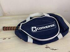 CONVERSE - Vtg 70s-80s Navy Blue Racquetball Carry Bag & Cardozo MC-7070 Racquet