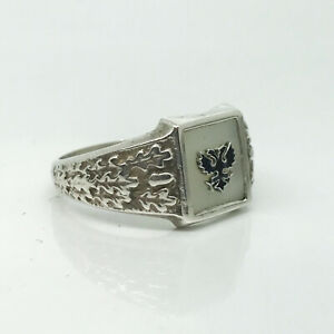 K.FABERGE Russian Imperial 88 Silver Ring