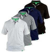 D555 Mens Polo Shirt With Pocket Fully Combed Pique, Sizes M - 8XL (GRANT )