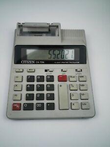 Vintage Citizen CX-75N Electronic Desktop Printing Calculator FREE UK POSTAGE