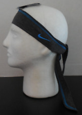 NIKE Women's Jersey Tie Hairband Color Black Heather New