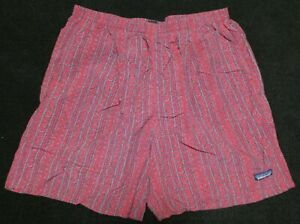 Patagonia men's red and gray print Baggies shorts Sz L