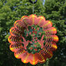 Sunnydaze Orange Hummingbird Whirligig Outdoor Wind Spinner with Hook - 12-Inch