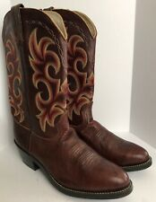 Mens Durango Western Cowboy Leather Boots DB933 Brown Multitone 9.5D