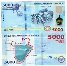 BURUNDI Afrique Billet 5000 Francs 2018 2019 P53 DANSEUR TAUREAU NEW NEUF UNC