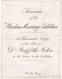 Souvenir of the Wrexham Missionary Exhibition.