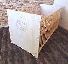 Lit à barreaux bébé ENSEMBLE COMPLET ENFANT 60x120 convertible blanc GRAVURE