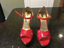 """Size 11M Fioni Hot Pink Strappy Pumps/Sandals 5"""" High Heel Shoes Pretty"""