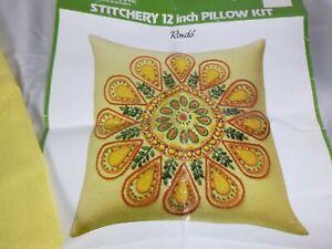 Vtg Wonderart Crewel Embroidery RONDO Pillow Kit #9113 COMPLETE