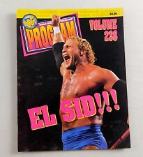 WWF Wresting Event Program Vol 238 Sid Justice Vicious Shawn Michaels WWE
