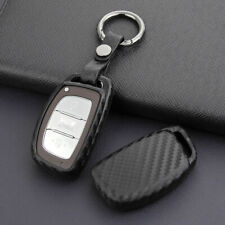 Carbon Fiber Style Smart Car Fob Key Cover Fit for Hyundai Tucson Elantra Sonata