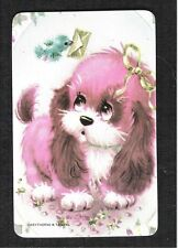 #915.023 Blank Back Swap Cards -MINT- Pink puppy receives a letter