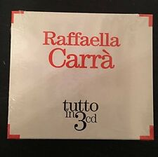 "RAFFAELLA CARRA' ""TUTTO IN 3"" RARO BOX 3 CD - SIGILLATO"
