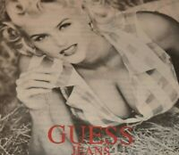 Anna Nicole Smith Guess Jeans Model Farmer's Daughter 1992 Vintage Print Ad