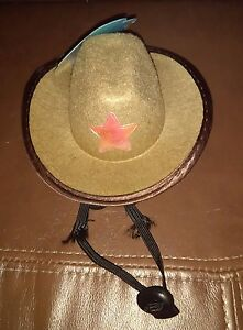 Brown Halloween  Dog Cowboy Hat Size S /M