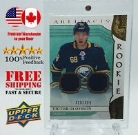 VICTOR OLOFSSON 2019-20 UD ARTIFACTS Rookie Materials GOLD 239/399 no.V Jersey