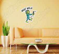 """Must Weld Welding Helmet Zombie Welder Wall Sticker Room Interior Decor 22""""X22"""""""